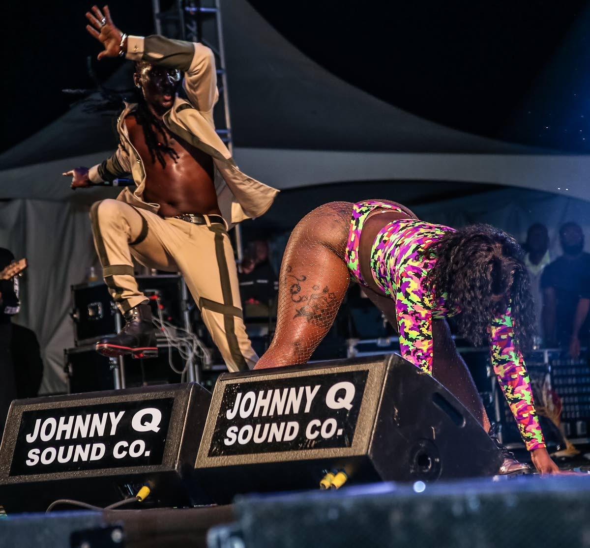 Grenada soca star Mr Killa performs at Army Fete last month.