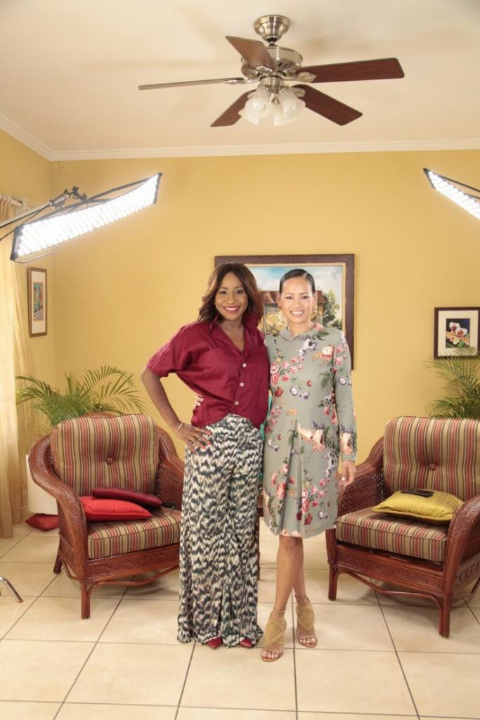 Carla Parris and fashion designer and entrepreneur Anya Ayoung-Chee.