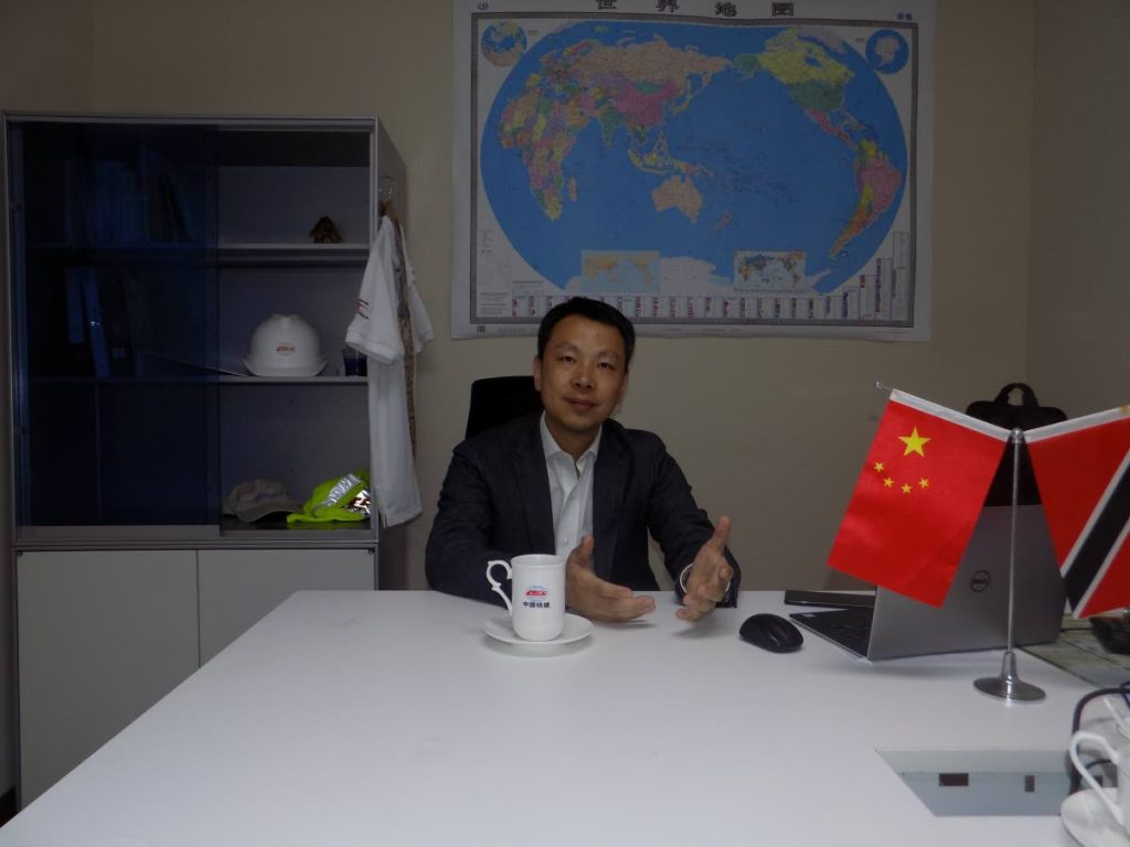 China Railway Construction (Caribbean) Co Ltd managing director Yan Meng says the company's presence in TT has been mutually beneficial to all parties. PHOTO BY SHANE SUPERVILLE