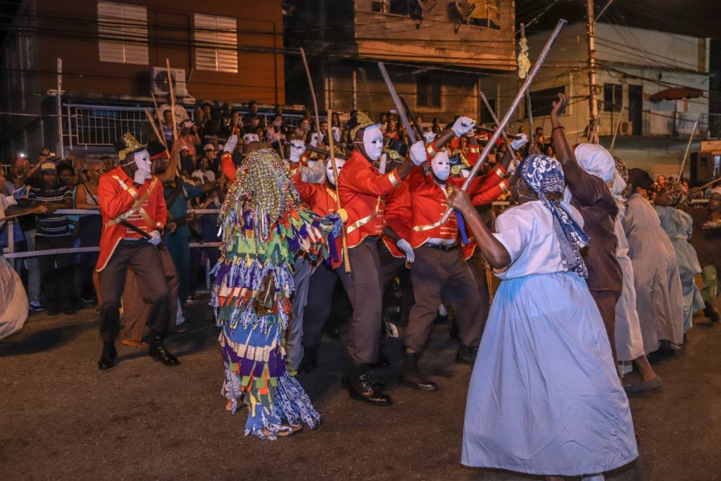 The reenactment of the Canboulay Riots of 1881 on Piccadilly Greens, Port of Spain on March 1. Chile's ambassador Juan Annibal Barria says historial Carnival events can be a major attraction for visitors from Chile. PHOTO BY JEFF MAYERS