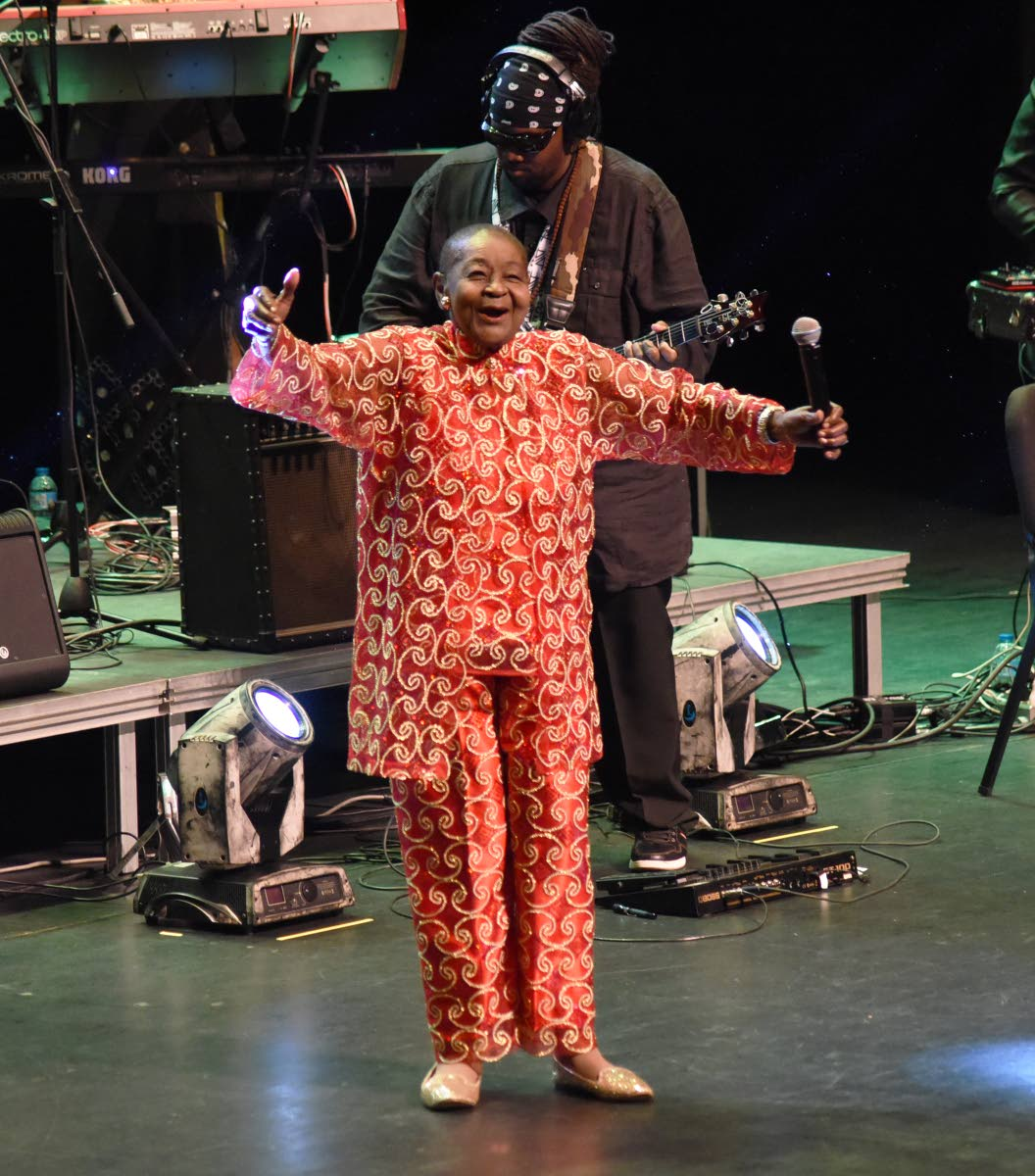 Calypso Queen Rose in full flight during her concert Forever Young.