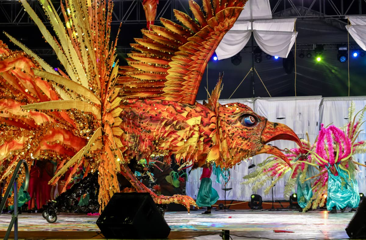 Second place in the Senior Queen category Roxanne Omalo portraying Solar Goddess of the Sky at the Dimanche Gras.