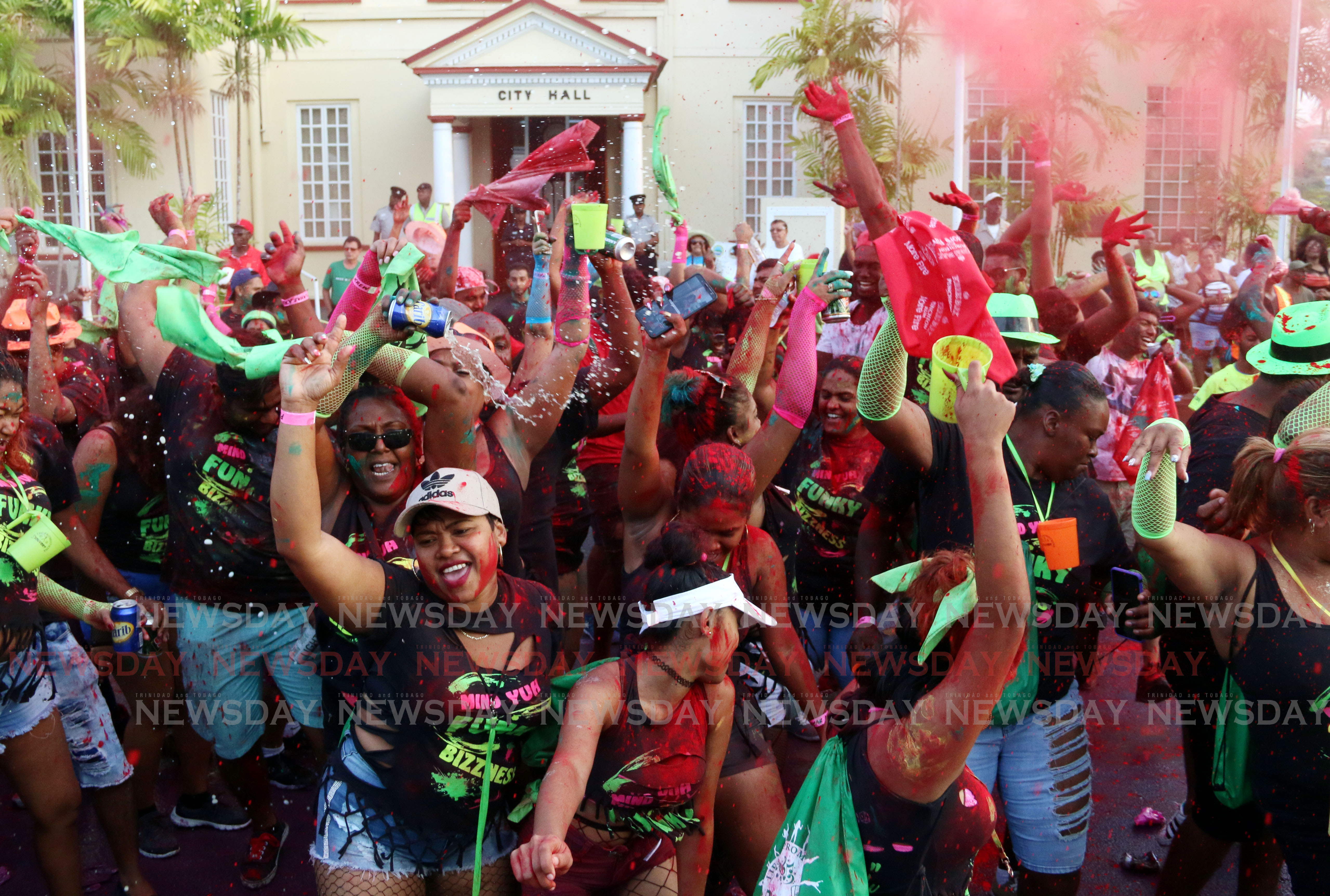 Playerz Crew in San Fernando for Jouvert morning PHOTO BY: ANSEL JEBODH