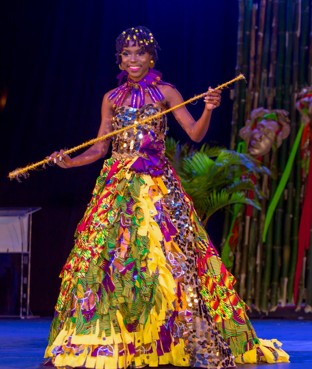 Aleah Holder won the Windward Afro Queen competition on Saturday at the Cyd Gray Complex, Roxborough. PHOTO BY DAVID REID