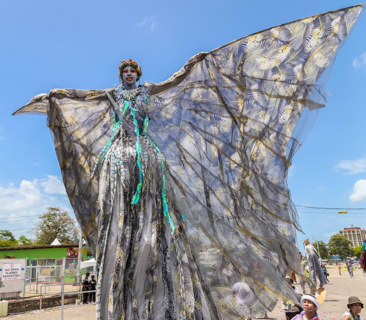 Shynel Brizan describes being a moko jumbie as a true spiritual experience. Photo by Jeff K Mayers