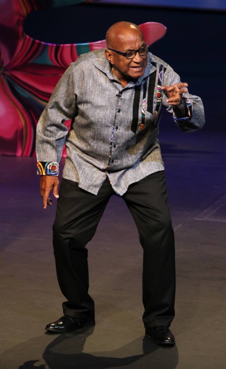Paul Keens-Doulgas perform at the Talk Tent on Friday at Queen's Hall, St. Ann's, Port-of-Spain. PHOTO BY AYANNA KINSALE