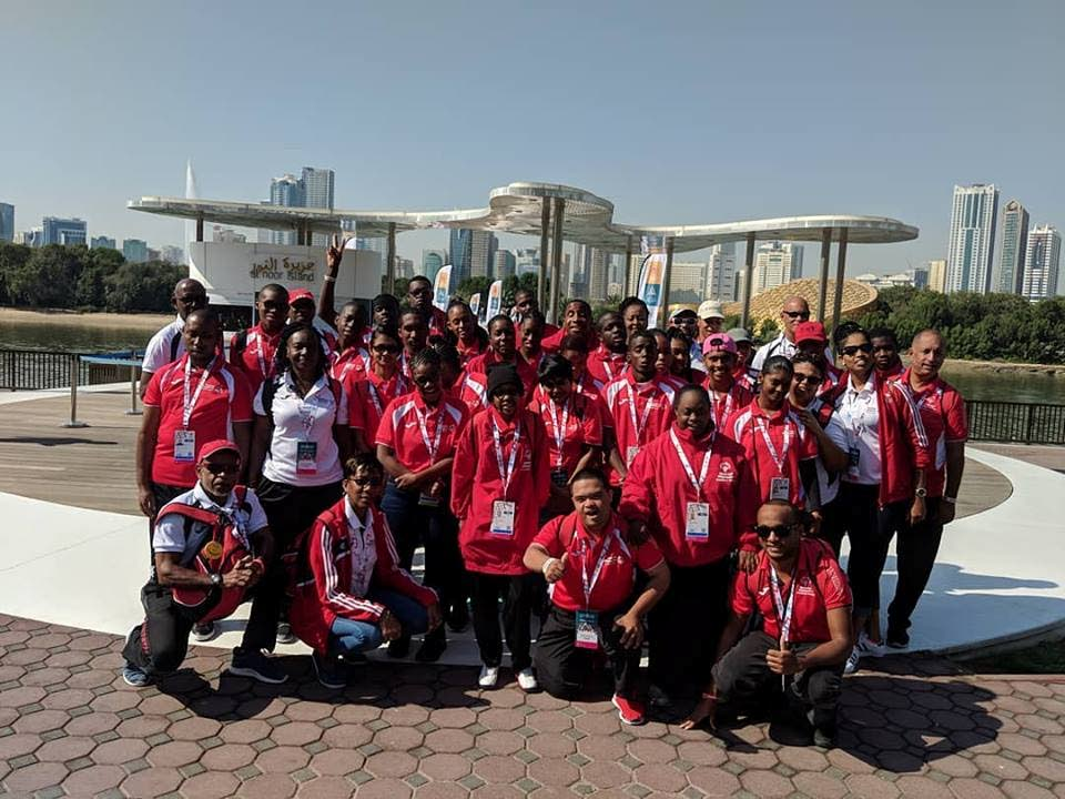 TT's Special Olympics contingent in Sharjah for the World Summer Games which in Abu Dhabi, United Arab Emirates.