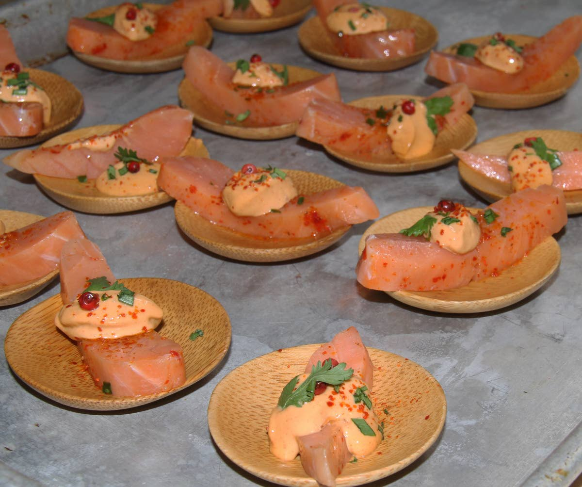 This is a sample of cured salmon with miso-wasabi from ZaZou Kitchen. ZaZou Kitchen will be one of the five participating restaurants in this year's Gout de France/Good France 2019.