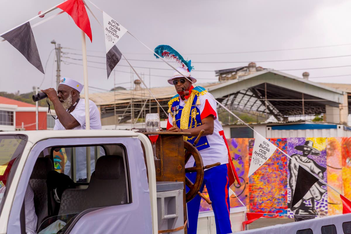 CAPTAIN LEACOCK: Tobago Festivals Commission chairman George Leacock navigates his