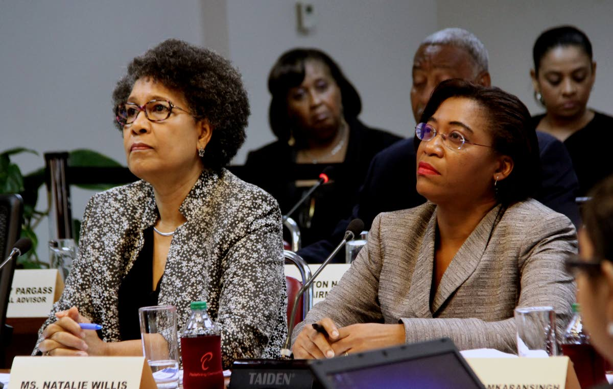 Stephanie Fingal , ECA's CEO (left) and Natalie Willis, PS in the Labour Ministry. PHOTO BY SUREASH CHOLAI