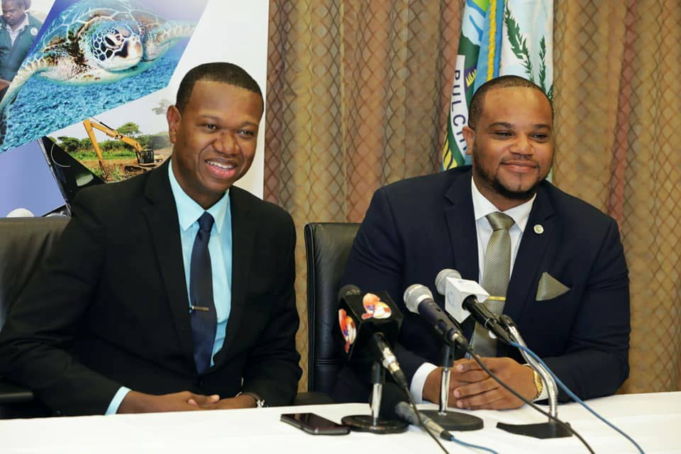 National Commission for Self Help CEO Elroy Julien, left, said purchase order recipients are not cashing the grants in a timely manner.