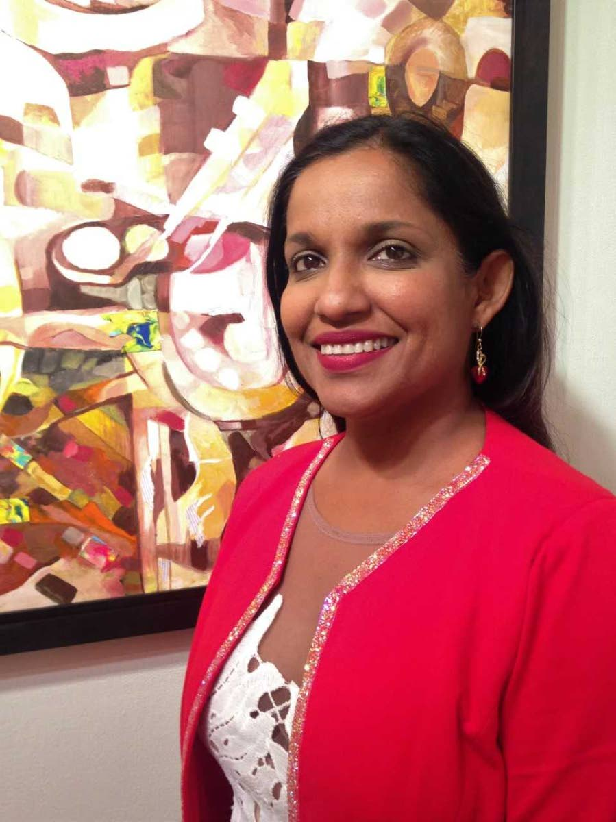 Artist Dr Shalini Singh at her exhibition From the Earth.