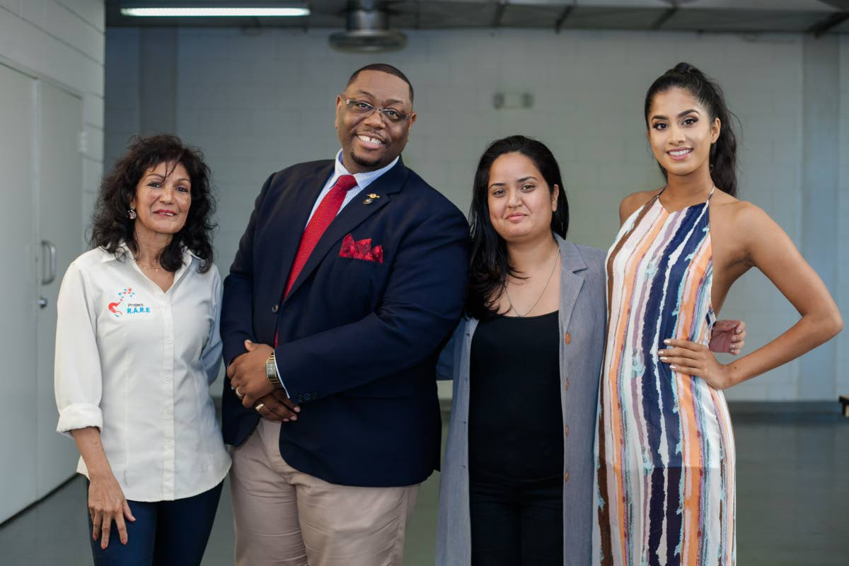 TEAM OF HOPE: (From left) Project R.A.R.E. founder Caron Asgarali, clinical traumatologist and Children's Authority chairman Haniff Benjamin, #NotOkay founder Candice Alaska and Miss World TT 2018 Ysabel Bisnath.