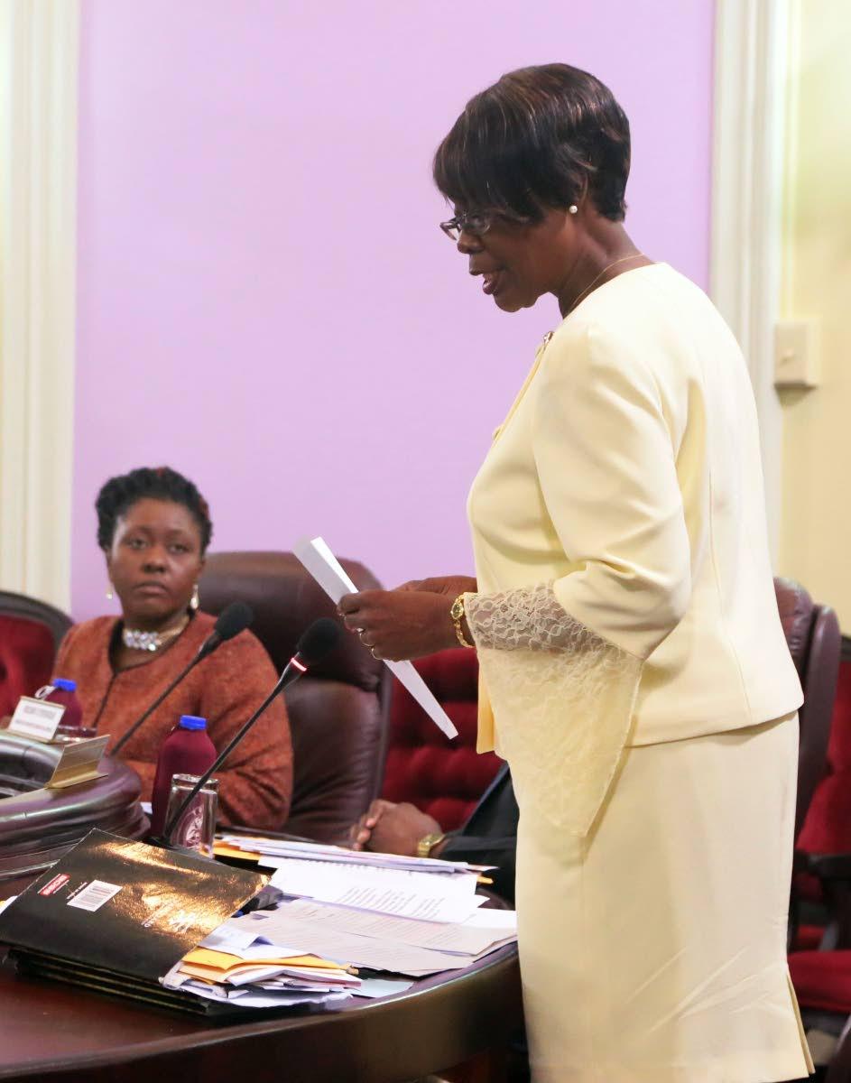 Health Secretary Agatha Carrington.