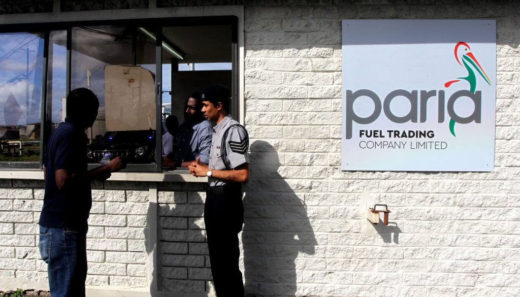 Security officers at Paria Fuel Trading Co Ltd, Pointe-a-Pierre. FILE PHOTO