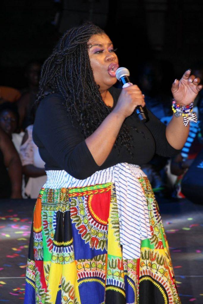 American gospel singer Maranda Curtis performs at In His Presence concert at Shaw Park Cultural Complex last Saturday.