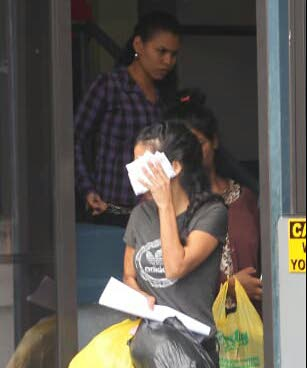 File photo: Venezuelan women who appeared in court charged with illegal entry into Trinidad.