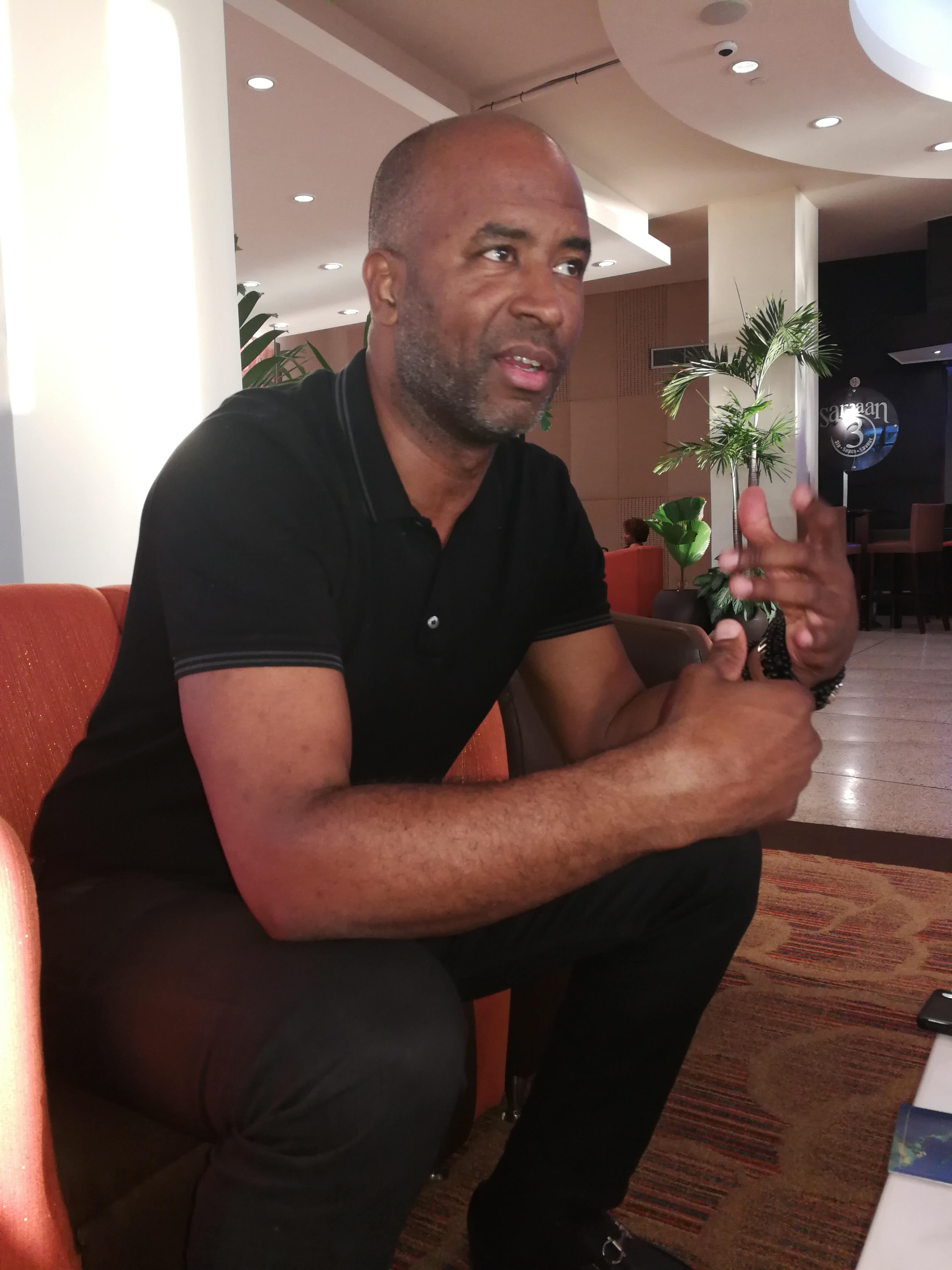 Douglas Gordon speaks with Newsday at Hilton Trinidad last week.   Photos: Joan Rampersad