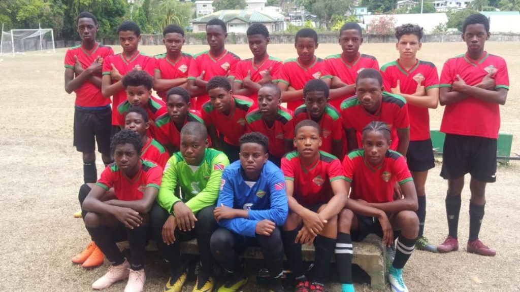 San Juan Jabloteh 2019 Under-15 team ahead of a recent clash with W Connection. PHOTO COURTESY TT PRO LEAGUE