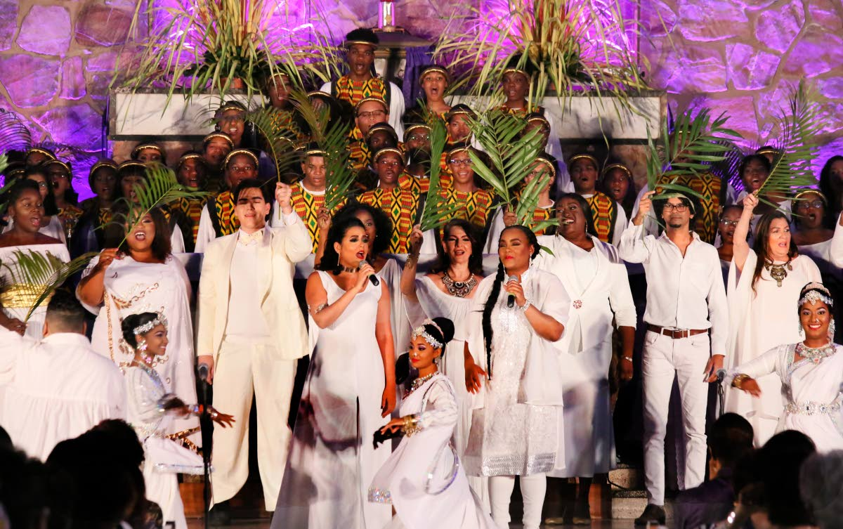Several performers participated in Believe the concert  featuring Songs of Hope on Palm Sunday  at the Church of Assumption,  Maraval.