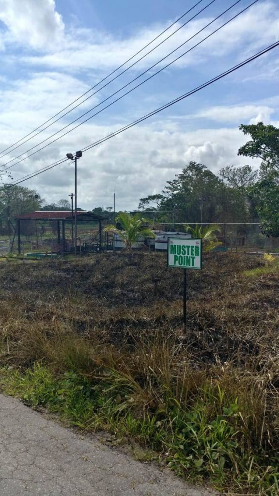 File photo: A burnt out area in Point Fortin that is causing residents some discomfort as smoke blanketed the Borough.  Photos: Ernesto Kesar