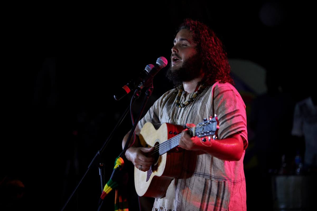 Caleb Hart wows the audience with his roots reggae songs at Jazz on the Waterfront.   Photo: Leeandro Noray