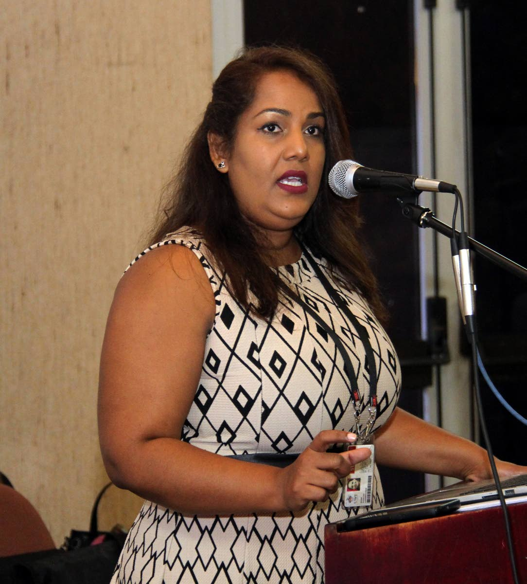Psychologist Dr Katija Khan speaks on Saturday during a seminar on suicide prevention at the EWMSC in Mt Hope.