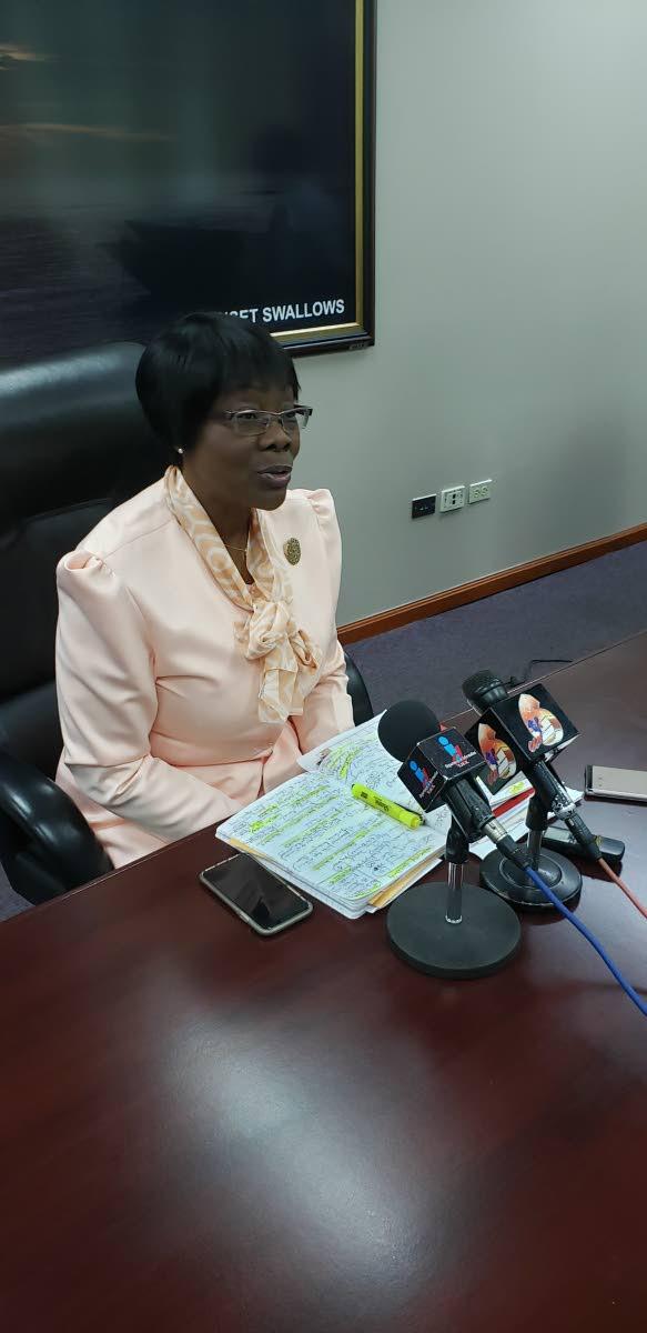 Secretary of Health Dr Agatha Carrington