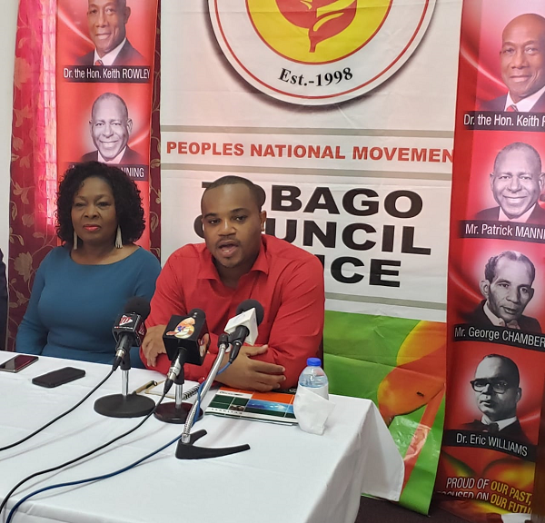 PNM PRO and Secretary for Infrastructure Kwesi DesVignes, right, told the media on Wednesday Cabinet has approved a THA policy position to compensate residents affected by the airport expansion project with money and land.