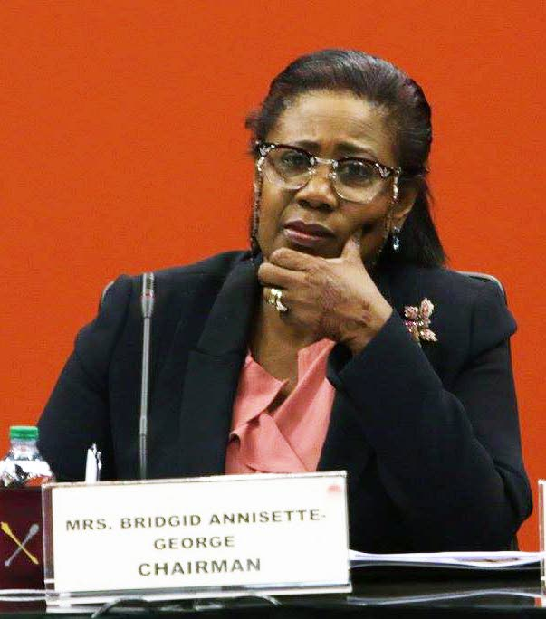 SAY WHAT?: Chairman of the Standing Finance Committee and House Speaker Bridgid Annisette George. FILE PHOTO