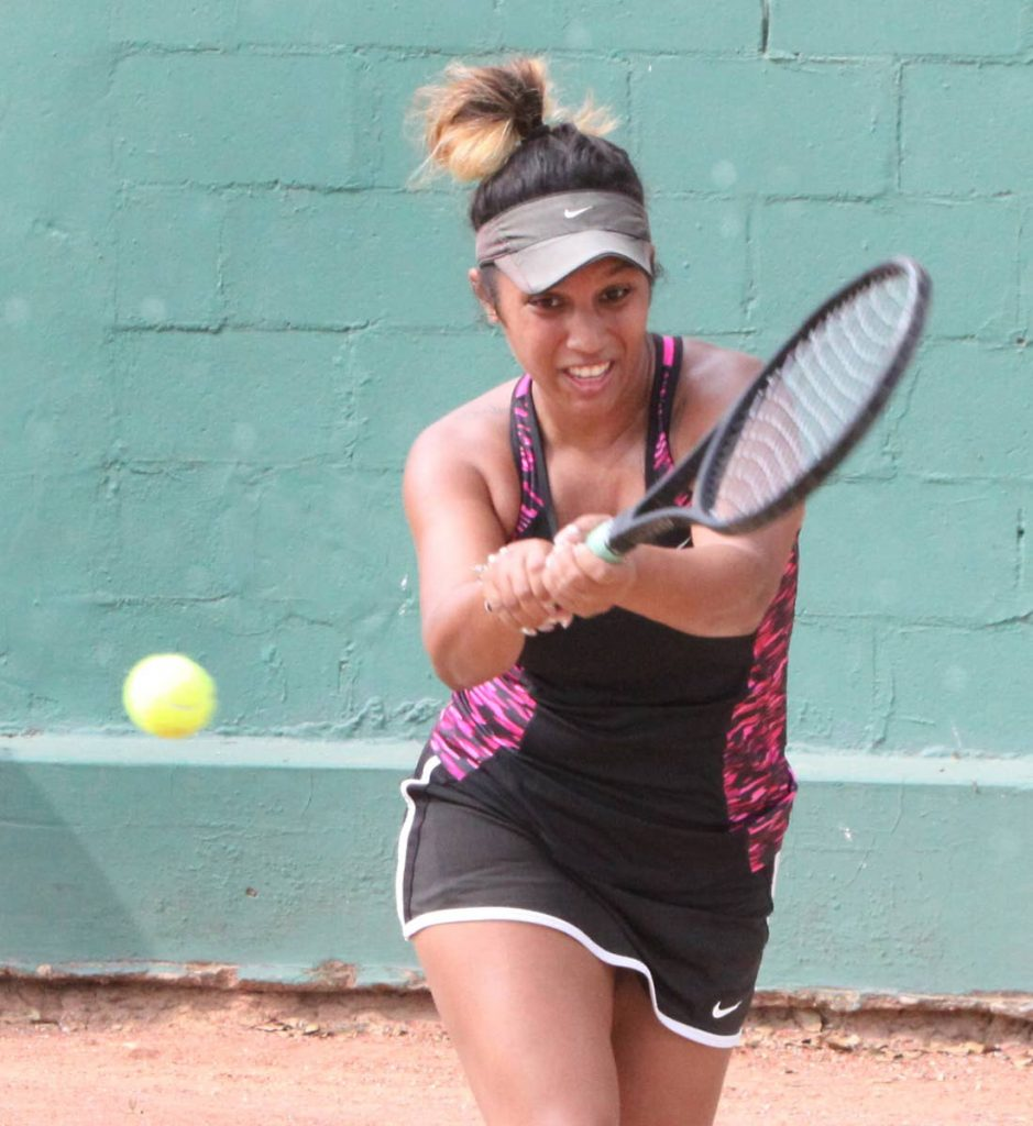 TT's Carlista Mohammed was beaten by eighth seed Pauline Wuarin of Switzerland 6-1, 6-0 yesterday, during action in the ITF World Tennis Tour Chaconia Classic Women's 15s tournament, held at the National Racquet Centre,Tacarigua.