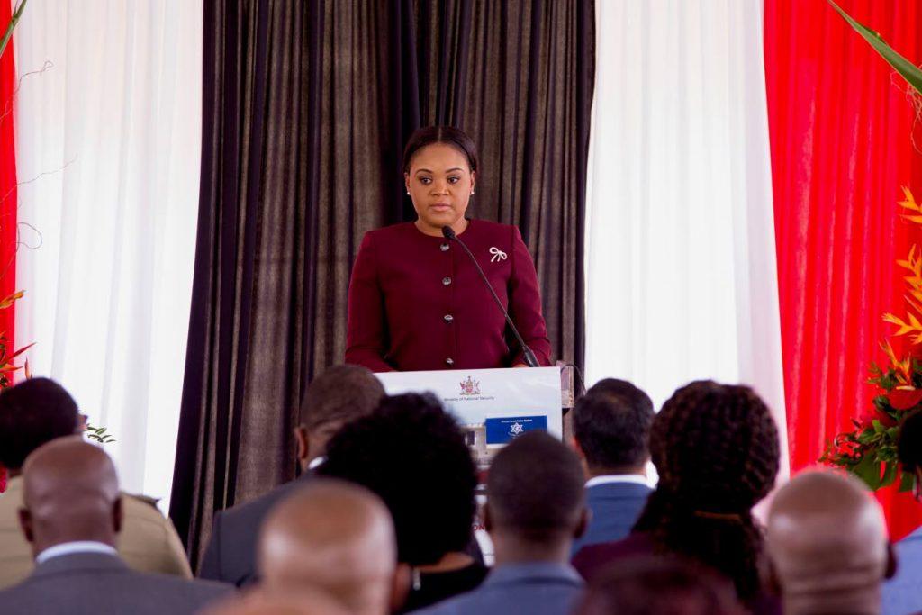 Minister of Sport and Youth Affairs Shamfa Cudjoe.