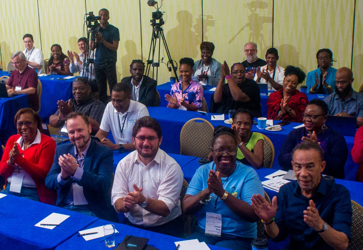 Participants at the 17th regional meeting of the Caribbean Network Operators Group (CaribNOG), held at Needham's Ballroom, Hilton Barbados Resort, Bridgetown, on April 10 to 12. Photo courtesy Caribbean Network Operators Group