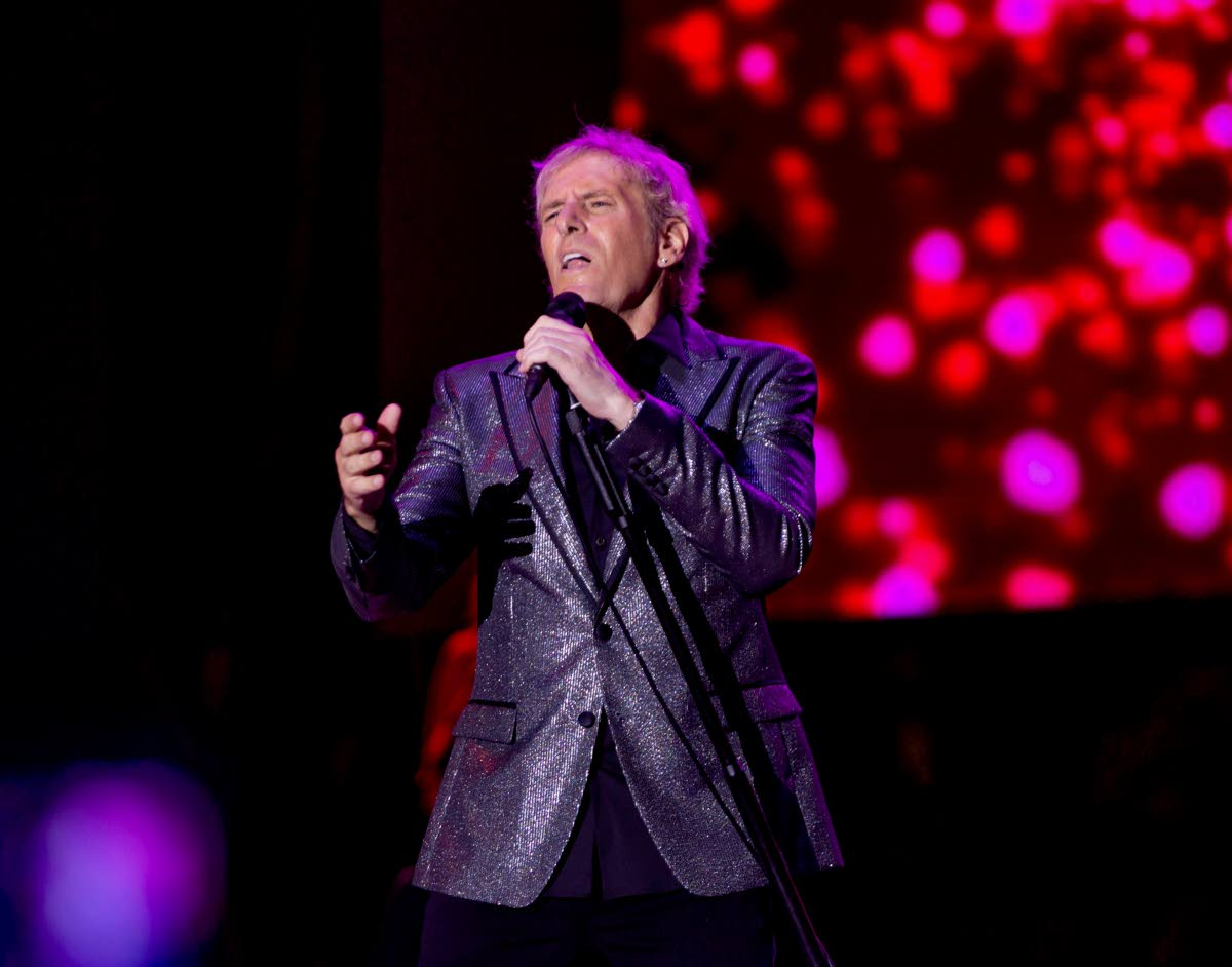 Pop rock legend Michael Bolton performs at Tobago Jazz Experience on Sunday night at the Pigeon Point Heritage Park. PHOTO BY DAVID REID