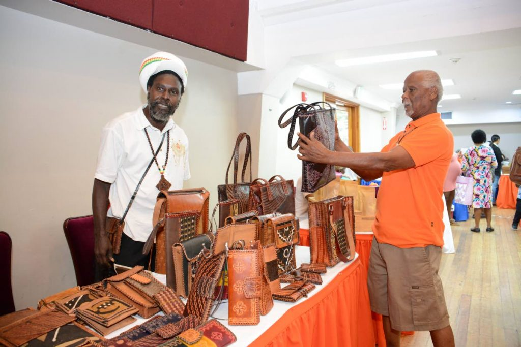 Roland Warner of Eguanna Leather and Hubert Fullerton of Indigenous Crafts.