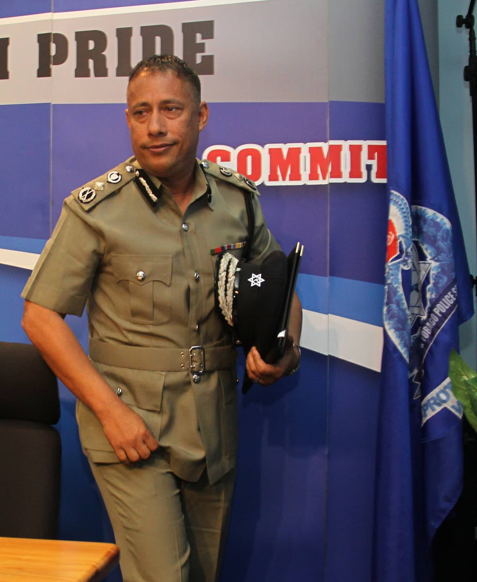 File photo: Police Commissioner Gary Griffith at the weekly press briefing at Police Admin Building in Port of Spain.