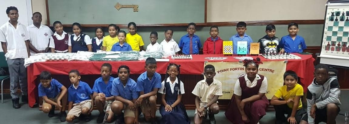 Students of the some of the representing schools at the launch of the Chess in Schools collaboration.
