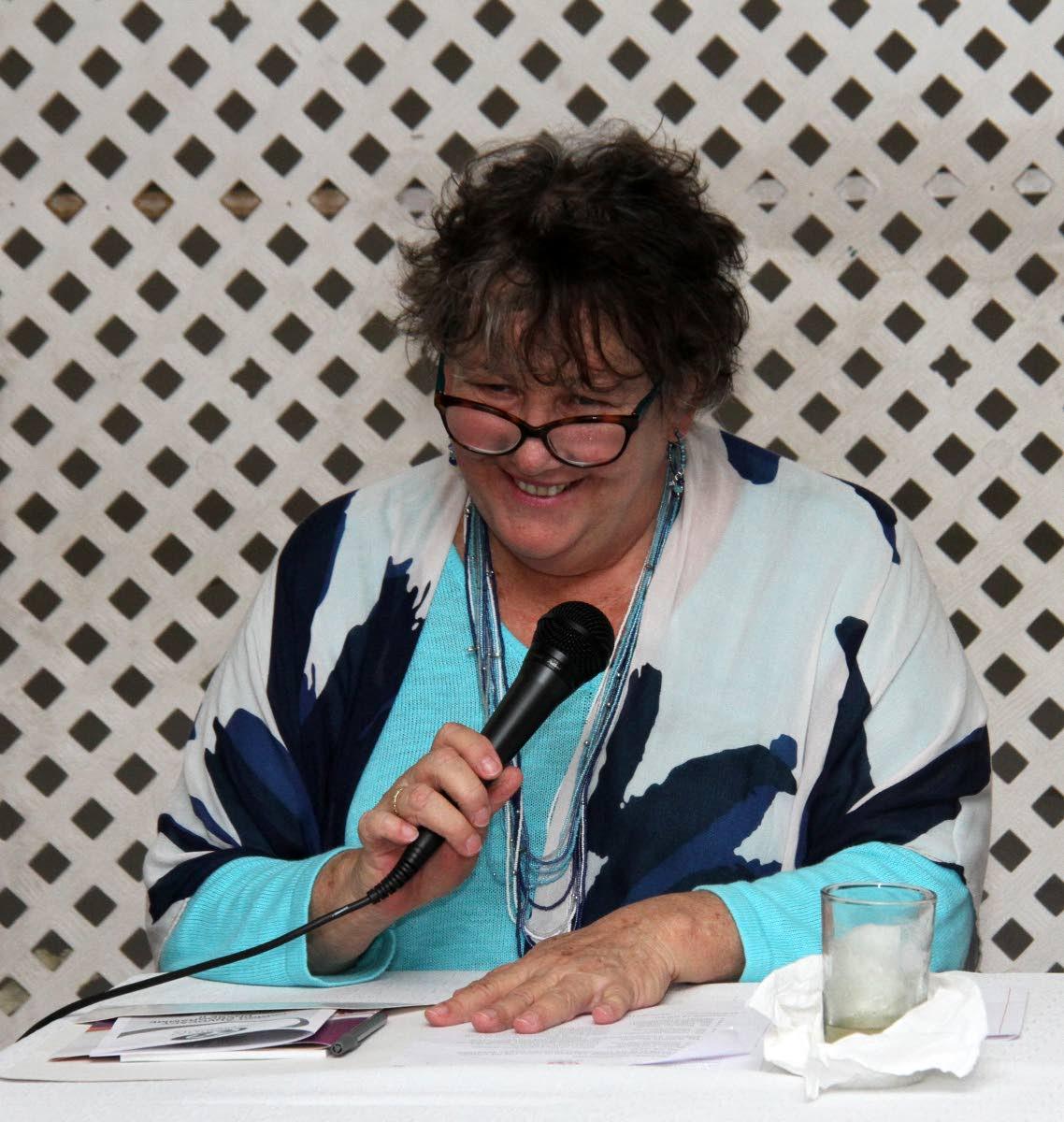 Consortium of Disability Organisations (CODO) president, Jacqueline Leotaud, speaks at the launch.