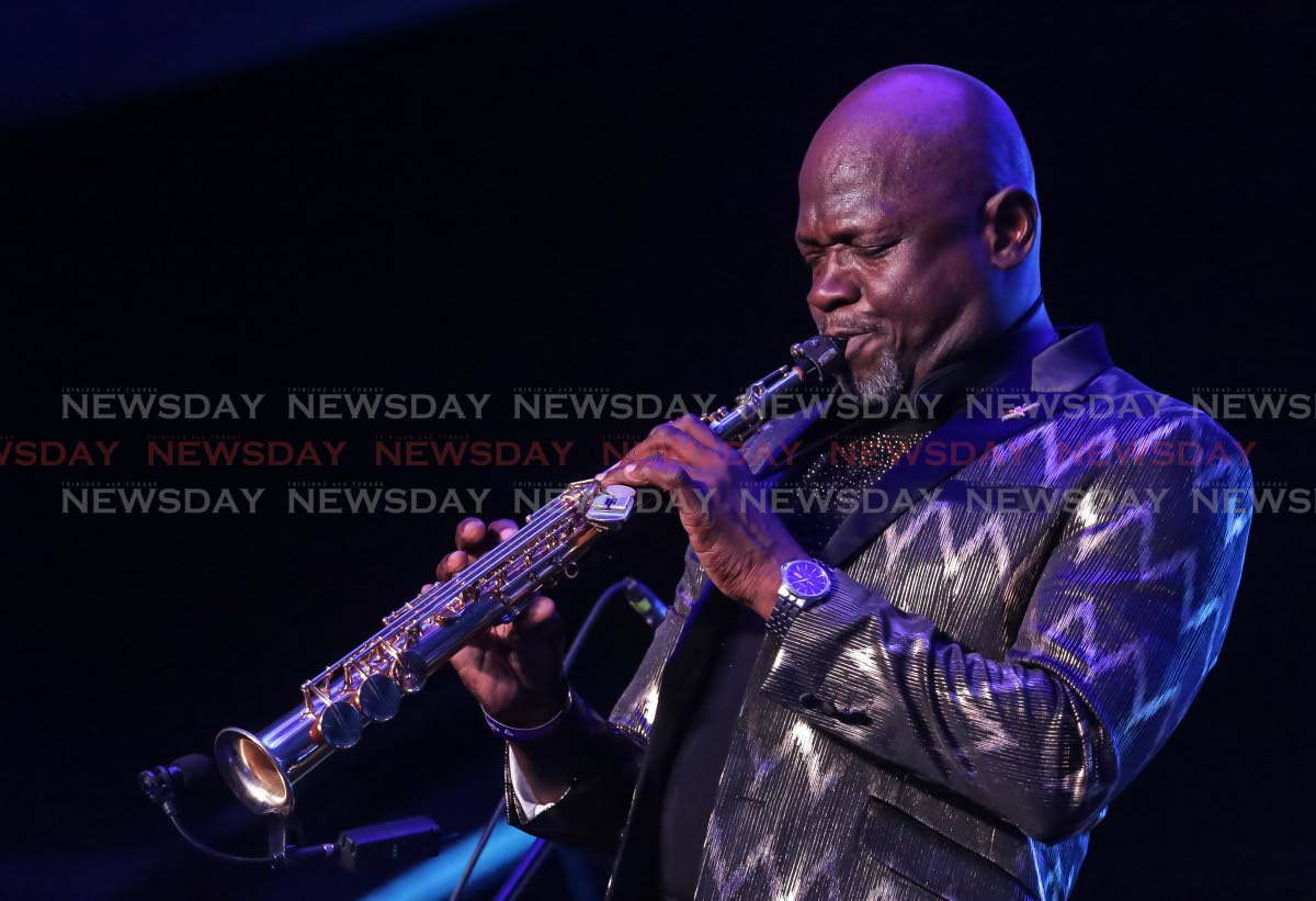"""St Lucian saxophonist Augustin """"Jab"""" Duplessis thrilled with a display of creole Caribbean jazz."""