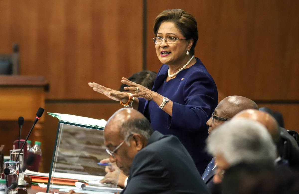 File photo of Opposition Leader Kamla Persad Bissessar PHOTO BY JEFF K MAYERS