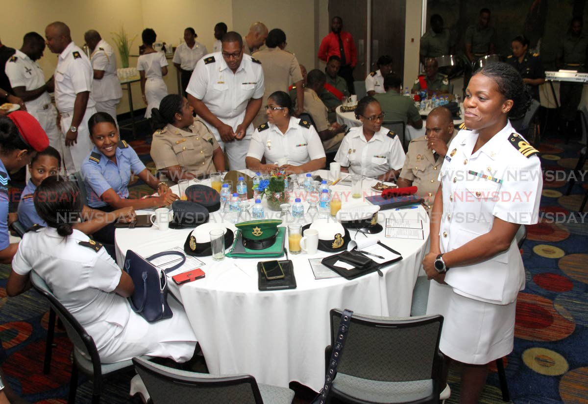 TTDF personnel, at the TTDF Inaugural Women's Conference, Trinidad Hilton Conference Centre, Port of Spain.  PHOTO:ANGELO M. MARCELLE