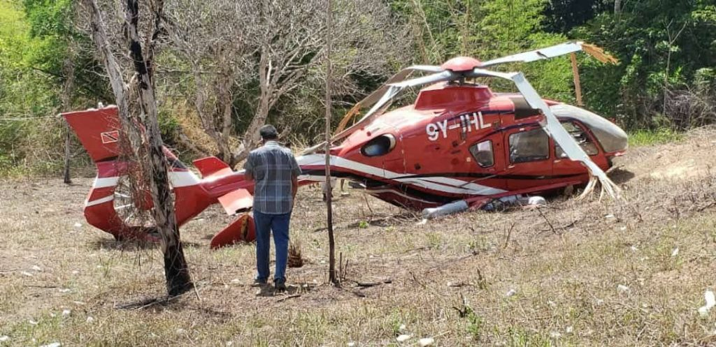 National security helicopter crashed during a search in Windy Hill for prison escapees. Sources social media.