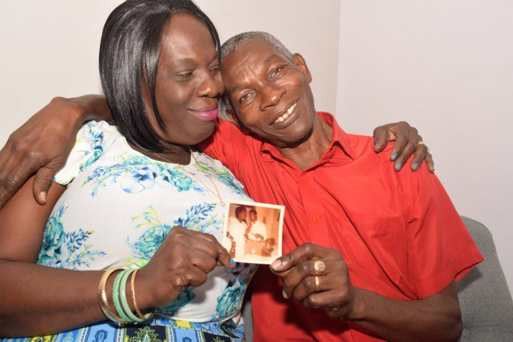 Bonnaventure and Anthony Joseph constantly displayed their affection during the interview at Newsday's office, Pembroke Street, Port of Spain.