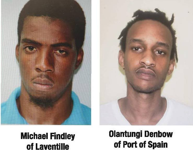 STILL AT LARGE: Michael Findley and Olatungi Denbow