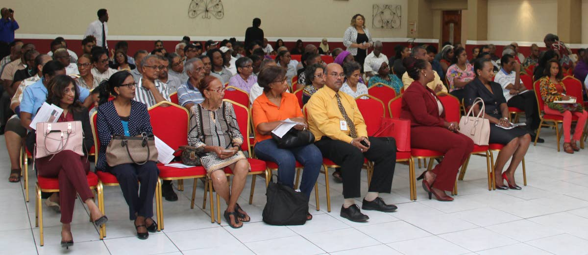 The audience at the launch of the Address Improvement and Postal Code Implementation Project for Penal/Debe at Paria Suites, La Romaine yesterday.