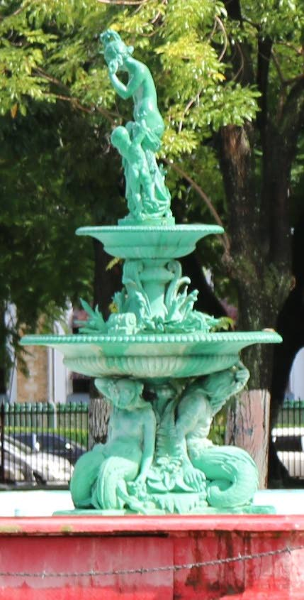 Another month to complete Woodford Square fountain