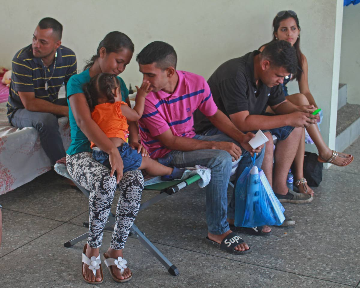 Venezuelans gather at Irwin Park Sport Complex in Siparia, south Trinidad on Tuesday May 28, 2018. People don't choose to be refugees; only dire circumstances would force someone to leave his or her home and, sometimes, family. Photo by Chequana Wheeler