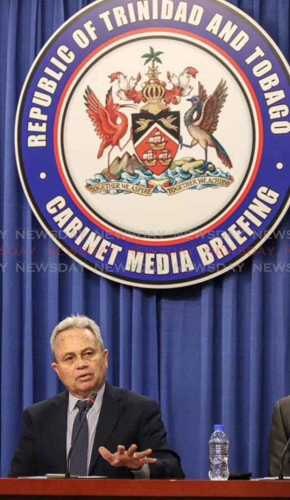 Acting Prime Minister Colm Imbert. Photo by Jeff K. Mayers