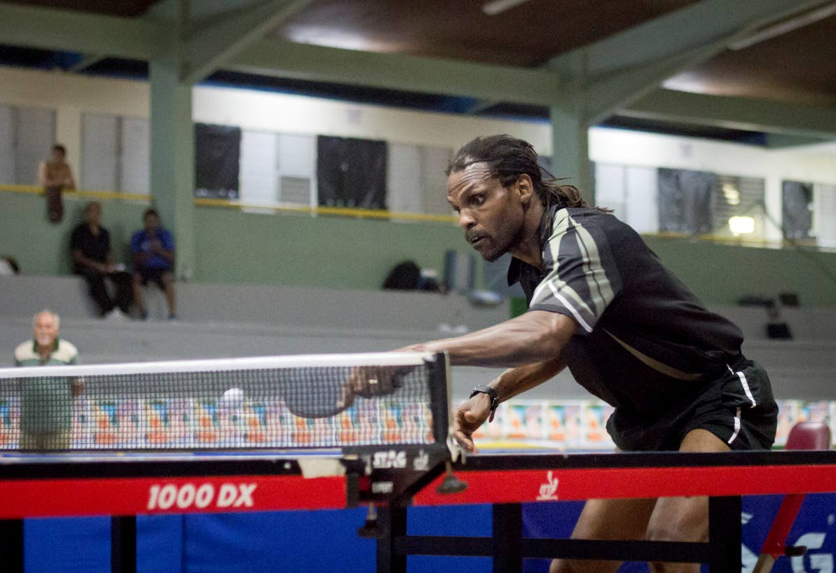 Dexter St Louis at the 2015 Solo National Table Tennis Championships. PHOTO COURTESY JOVAN BARKLEY