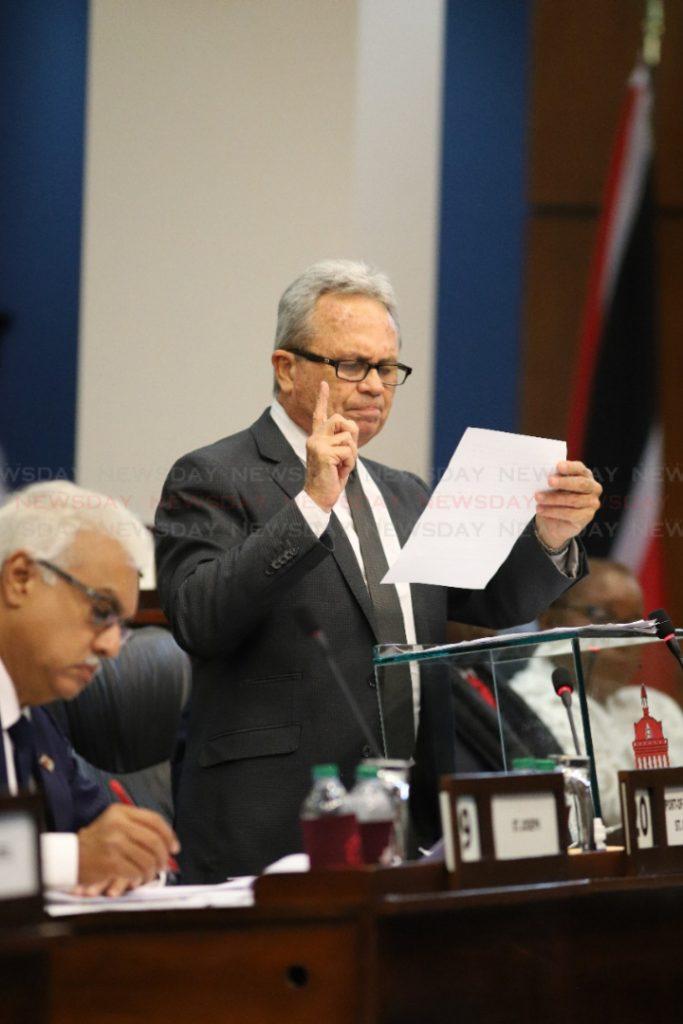 Finance Minister Colm Imbert.  Photo: Jeff K Mayers